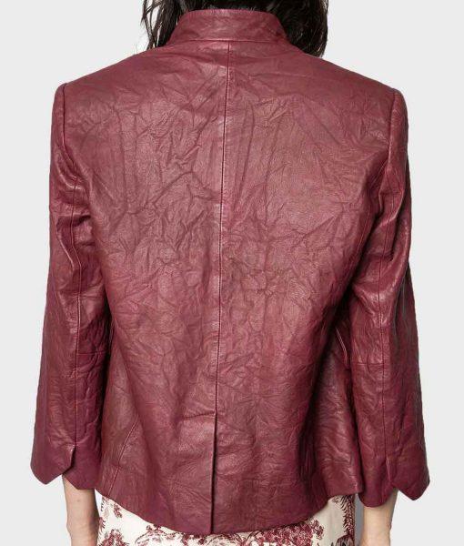 9-1-1-angela-bassett-maroon-leather-blazer