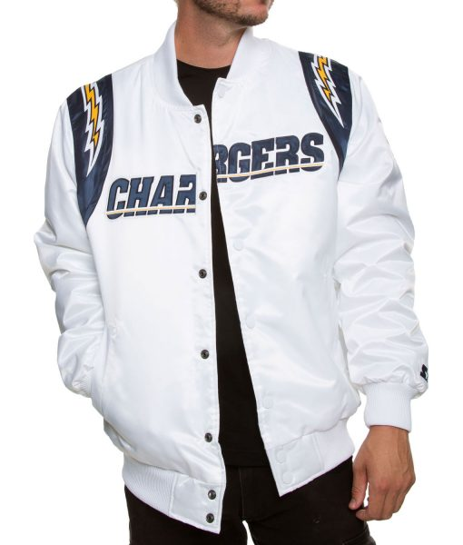 chargers-starter-white-satin-jacket