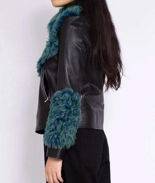 womens-aviator-green-fur-leather-jacket