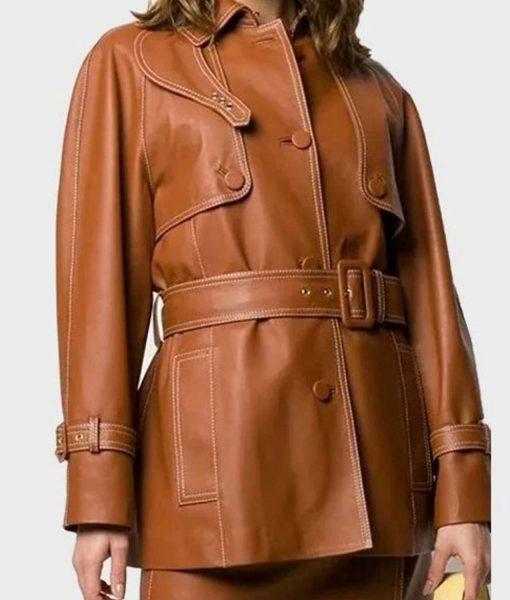 womens-mid-length-brown-coat