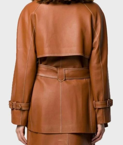 womens-mid-length-brown-leather-coat