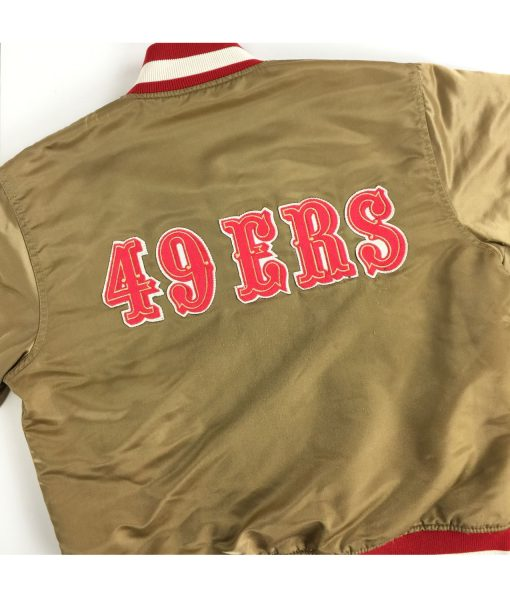 49ers-san-francisco-beige-bomber-jacket