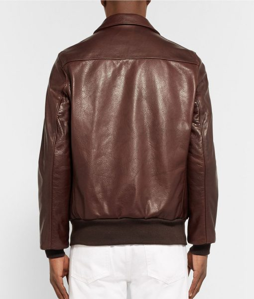 a2-brown-grain-leather-bomber-jacket