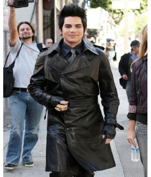 adam-lambert-black-trench-coat