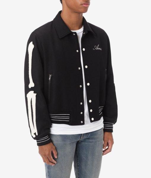 amiri-bone-black-varsity-jacket