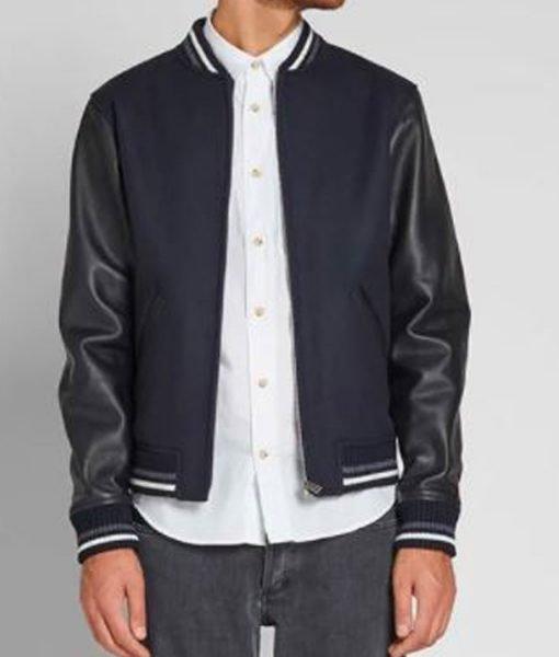 apc-copper-navy-varsity-jacket