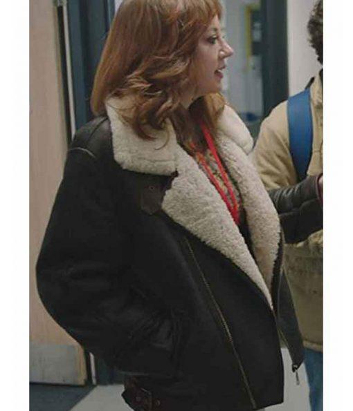 diane-morgan-shearling-jacket