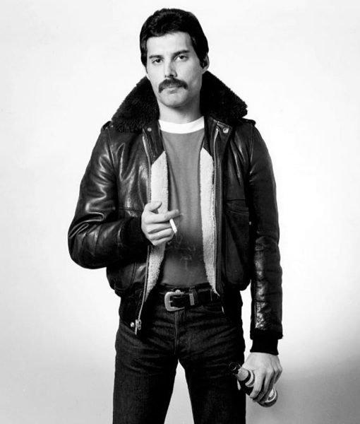 freddie-mercury-bomber-leather-jacket