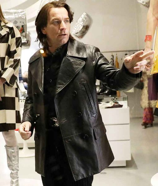 halston-black-leather-peacoat