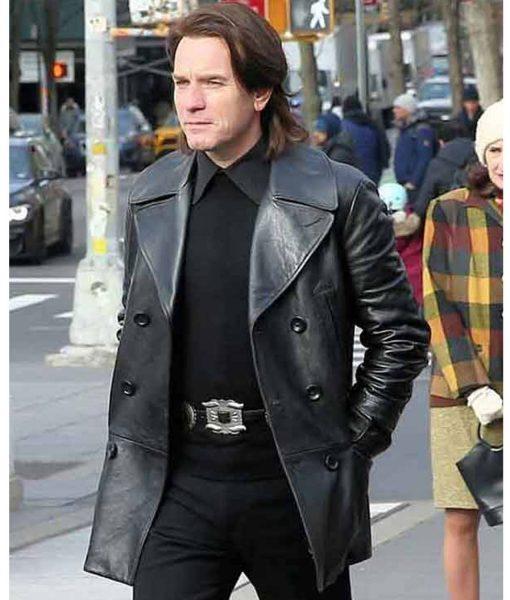 halston-leather-peacoat