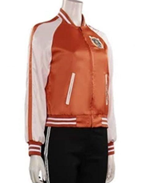 karen-gillan-gunpowder-orange-jacket