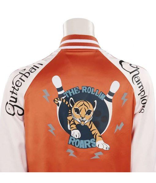 karen-gillan-orange-bomber-jacket