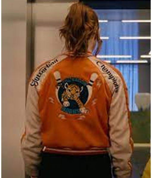 karen-gillan-orange-jacket