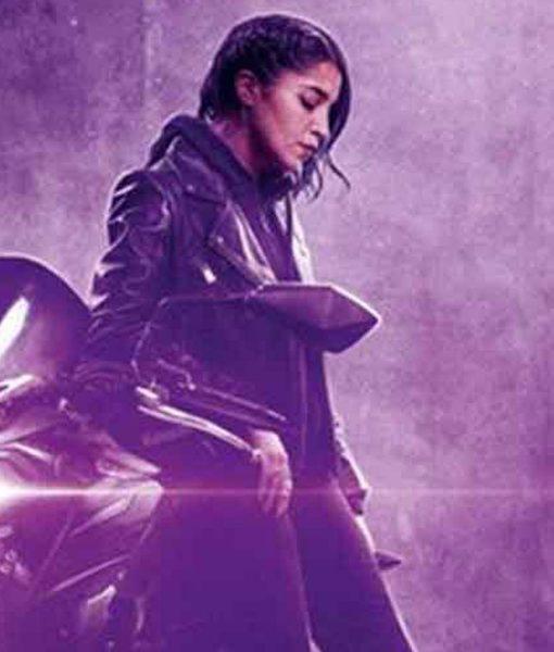 leila-bekhti-leather-jacket