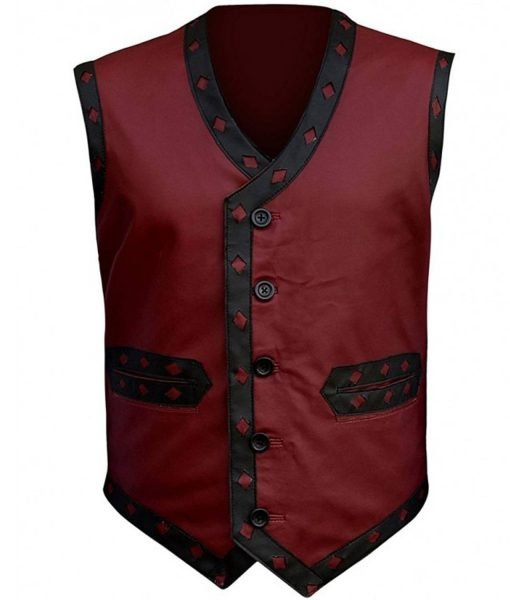 the-warriors-maroon-leather-vest