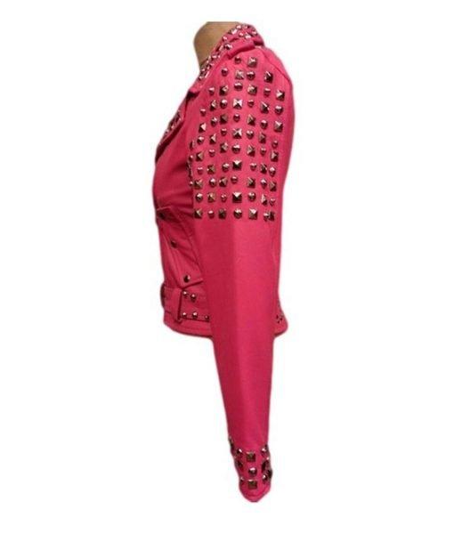 womens-pink-biker-jacket