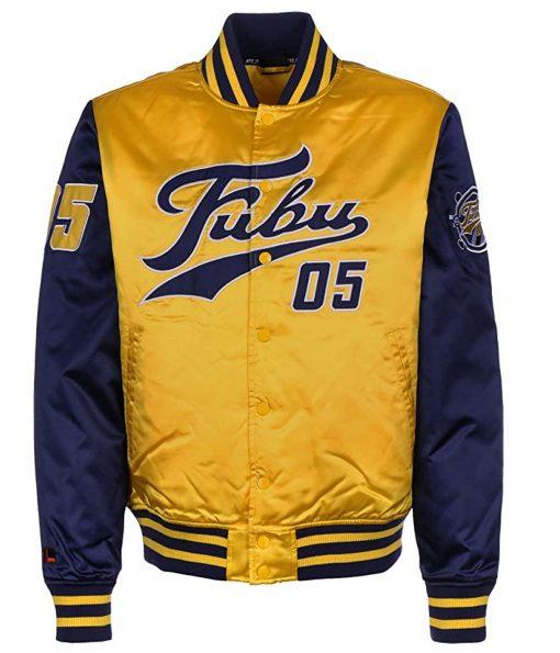 fubu-yellow-varsity-college-jacket